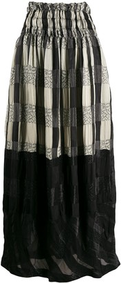 Comme Des Garçons Pre Owned 1990s Panelled Maxi Skirt