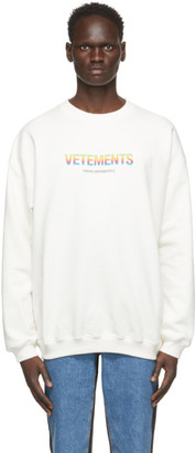 Vetements White Think Differently Sweatshirt