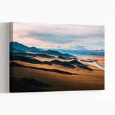 Canvas Print 24 x 16 Inch (60 x 40 cm) Prairie Landscape Mountains - Canvas Wall Art Picture Ready to Hang - FREE DELIVERY