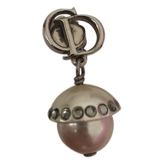 Christian Dior Perles Grey Metal Earrings