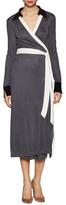 Diane von Furstenberg Cybil Colorblocked Wrap Dress