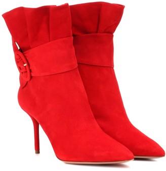 Aquazzura Palace 85 suede ankle boots