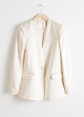 And other stories Straight Fit Satin Blazer