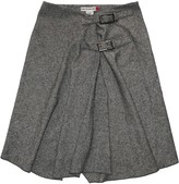 JC de CASTELBAJAC Grey Wool Skirt for Women Vintage