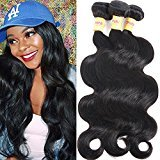 Connie 6A Peruvian Hair body wave 3bundles 20 22 24 Unprocessed Peruvian Human Hair Weave Weft Natural Black Color-Tangle Free