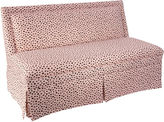 Skyline Furniture Lela 60 Skirted Settee, Pink Polka Dot