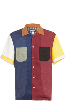 MONITALY Vacation Multi-Color Cotton Shirt