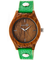 Earth Wood Tannins Green Leather-Band Watch Ethew1304