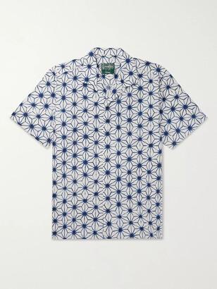 Gitman Brothers Convertible-Collar Printed Cotton Shirt