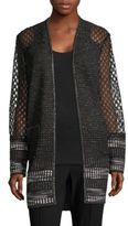 Elie Tahari Connor Tweed Open-Front Coat