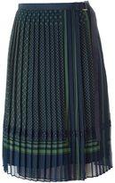 Sacai pleated midi skirt - women - Polyester/Cupro - 3