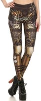 F style Women Steampunk Cosplay Pants 3d Print High Waist Mechanical Gear leggings