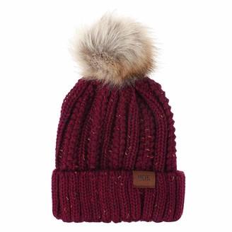 DEELIN 2020 Fashion Women's Bobble Hat Wool Cap Keep Warm Winter Casual Knitted Hat Wool Hemming Hat Ski Hat Girls Pom Pom Hats for Women