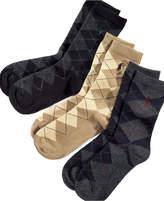 Ralph Lauren Little Boys' and Boys' 3 Pack Argyle Socks