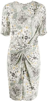 Etoile Isabel Marant Floral Print Twist Midi Dress