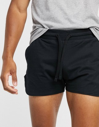 ASOS DESIGN organic lightweight jersey runners shorts in black