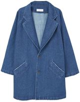 MANGO Printed Denim Trench