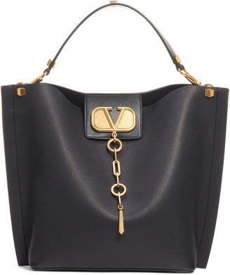 Valentino Garavani Go Logo Escape Leather Hobo Bag