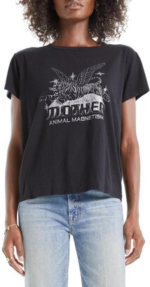 Mother The Boxy Goodie Goodie Supima(R) Cotton Tee