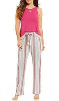 Lucky Brand Fringed & Striped Pajamas
