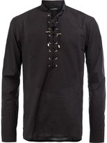Balmain lace up front shirt - men - Cotton - 41