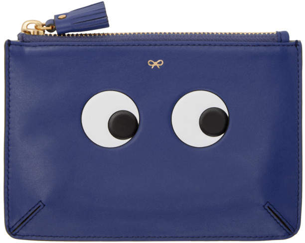 Anya Hindmarch Blue Loose Pocket Eyes Pouch
