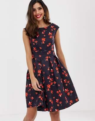 Closet London Closet tie back dress-Navy