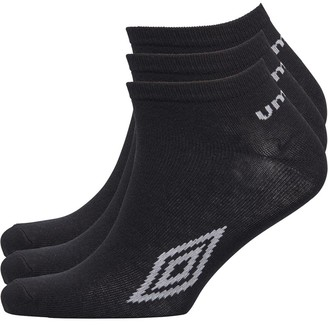 Umbro Mens Three Pack Basic Trainer Liner Socks Black