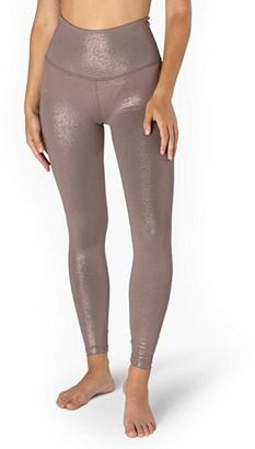 Beyond Yoga Twinkle High Waisted Midi Leggings (Black/Silver Twinkle) Women's Casual Pants