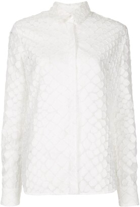 Alex Perry Ashton textured long sleeve shirt