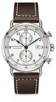 Hamilton Pioneer Auto Chrono Stainless Steel & Calf Leather Strap Watch