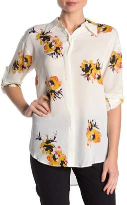 A.L.C. Calder Floral Silk Button Front Shirt