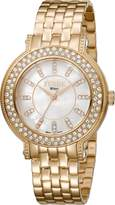 Ferré Milano Women's FM1L049M0081 White Mother of Pearl Dial with Rose Gold stainless-Steel Band Watch.