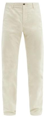 Incotex Cotton-blend Slim-leg Chino Trousers - White