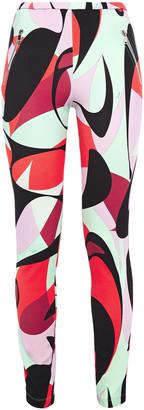 Emilio Pucci Printed Stretch-jersey Leggings