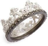 Armenta Women's Old World Half Crown Diamond Ring