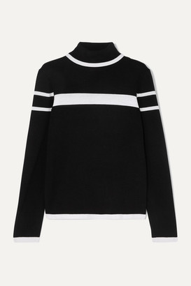 Erin Snow Kito Striped Merino Wool Turtleneck Sweater - Black