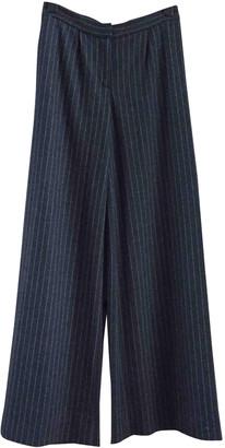 Lisa Perry Grey Wool Trousers