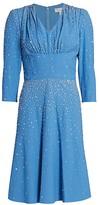 Michael Kors Embellished Studded Fit-&-Flare Dress