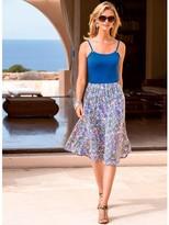 Anne Weyburn Printed Skirt with Elasticated Waist