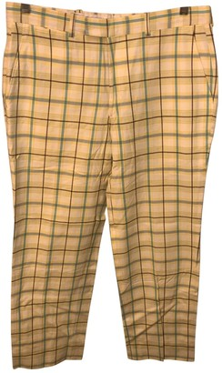 Burberry Yellow Cotton Trousers
