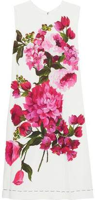 Dolce & Gabbana Floral-print Silk-blend Mini Dress