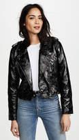 Blank Black Shiny Jacket
