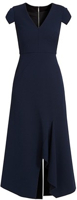 Roland Mouret Kinglake Vented Crepe Wool Dress