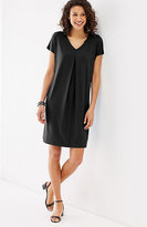 J. Jill Wearever Pleat-Front V-Neck Dress