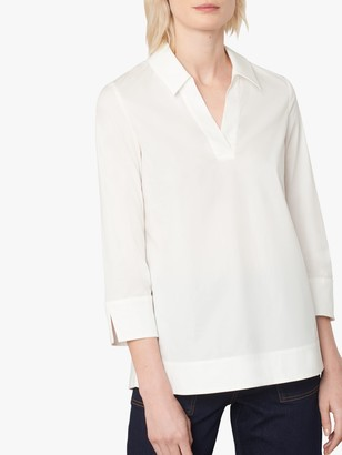 Jaeger Collared Cotton Tunic, White