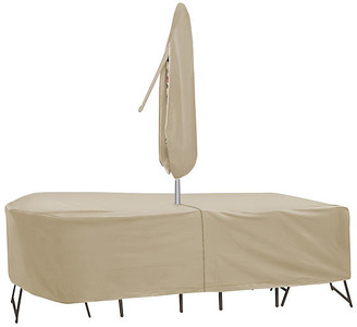 Protective Covers Rectangular Table and Chair Cover - Tan