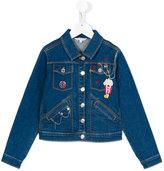 Little Marc Jacobs Popcorn denim jacket - kids - Cotton/Acrylic/Polyester/glass - 5 yrs