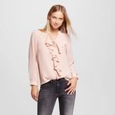 Eclair Women's Ruffle Front Blouse blush - Éclair