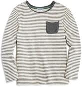 Splendid Boys' Long-Sleeved Striped Pocket Tee